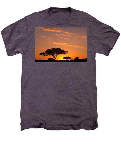 African Sunset Men's Premium T-Shirt by Sebastian Musial