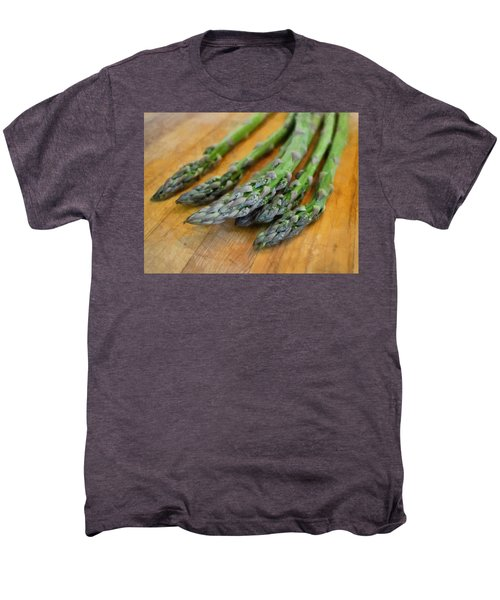 Asparagus Men's Premium T-Shirt by Michelle Calkins