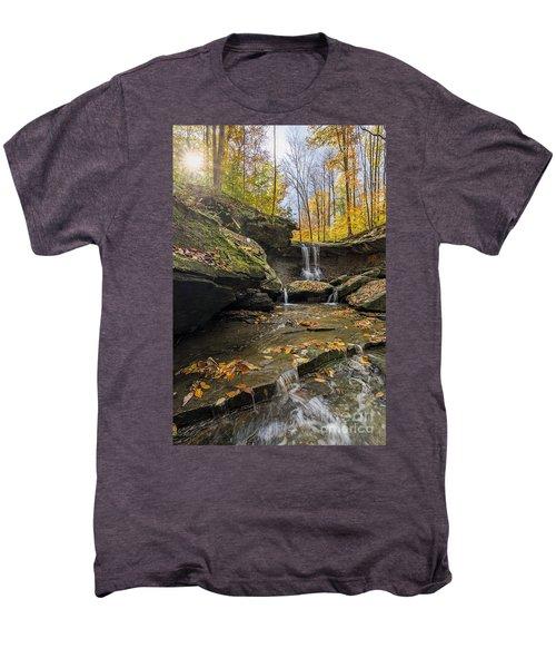 Autumn Flows Men's Premium T-Shirt by James Dean