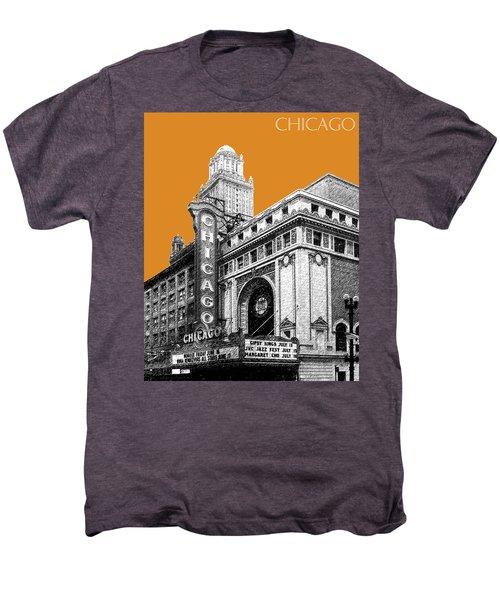 Chicago Theater - Dark Orange Men's Premium T-Shirt