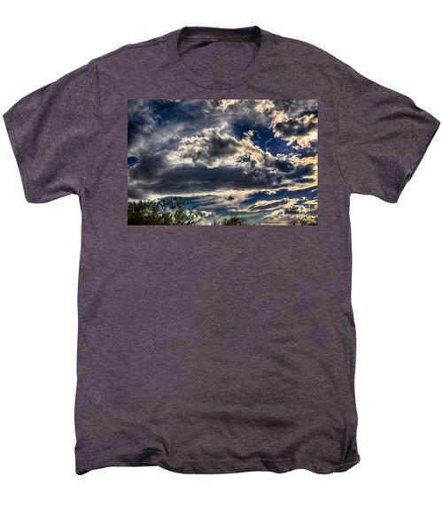 Men's Premium T-Shirt featuring the photograph Cloud Drama by Mark Myhaver