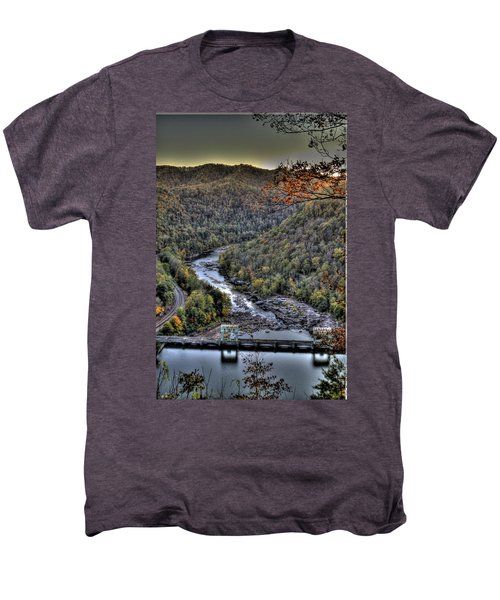 Men's Premium T-Shirt featuring the photograph Dam In The Forest by Jonny D