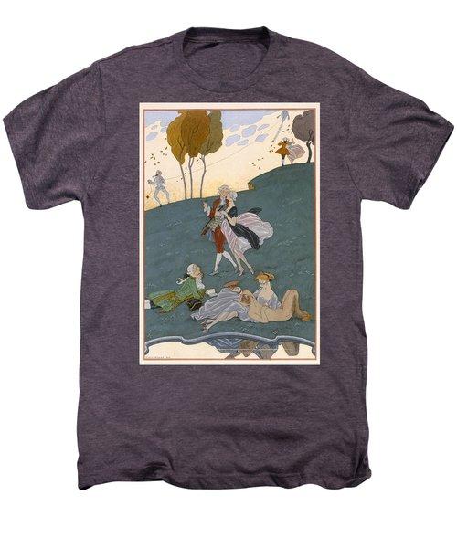 Fetes Galantes Men's Premium T-Shirt by Georges Barbier