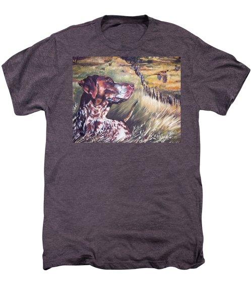 German Shorthaired Pointer And Pheasants Men's Premium T-Shirt