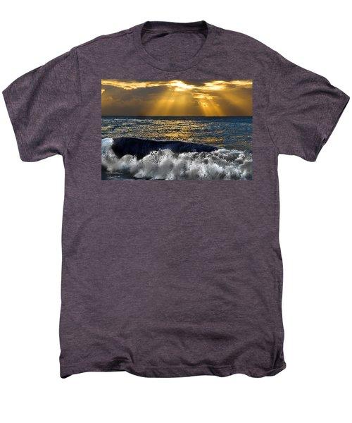 Golden Eye Of The Morning Men's Premium T-Shirt by Miroslava Jurcik