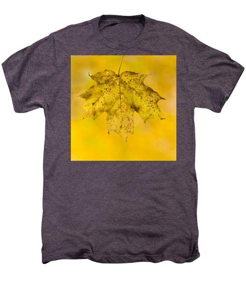 Men's Premium T-Shirt featuring the photograph Golden Maple Leaf by Sebastian Musial