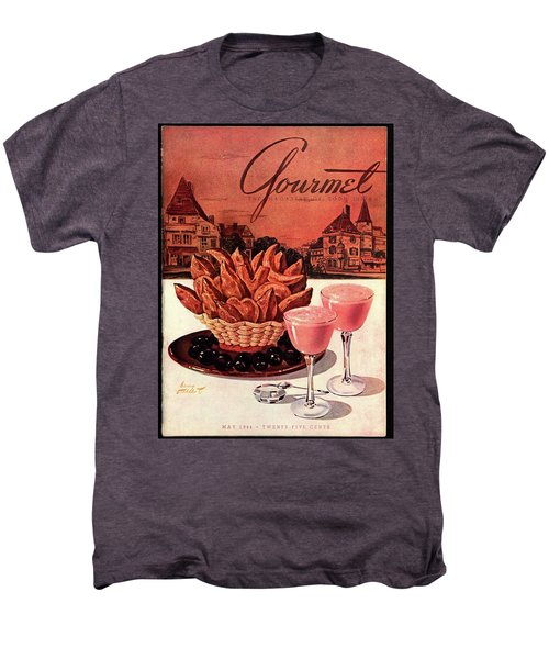 Gourmet Cover Featuring A Basket Of Potato Curls Men's Premium T-Shirt by Henry Stahlhut