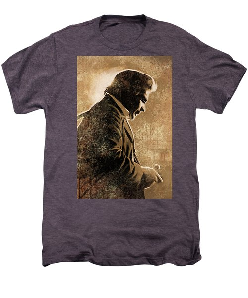 Johnny Cash Artwork Men's Premium T-Shirt by Sheraz A