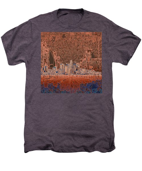 Los Angeles Skyline Abstract 7 Men's Premium T-Shirt by Bekim Art