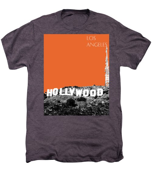 Los Angeles Skyline Hollywood - Coral Men's Premium T-Shirt