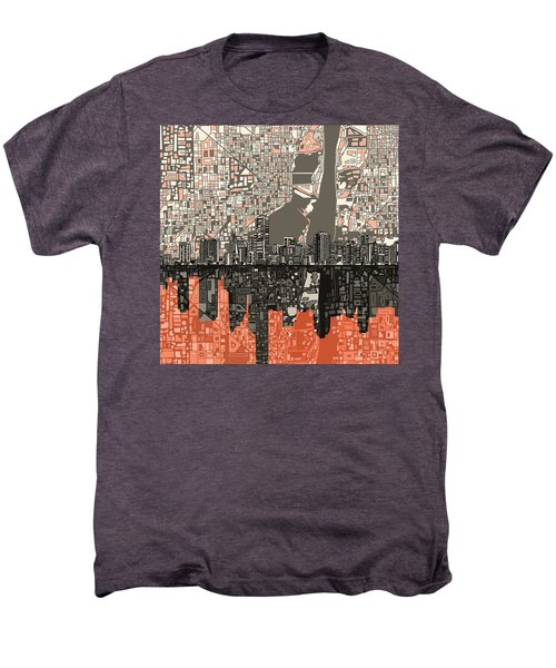 Miami Skyline Abstract 2 Men's Premium T-Shirt