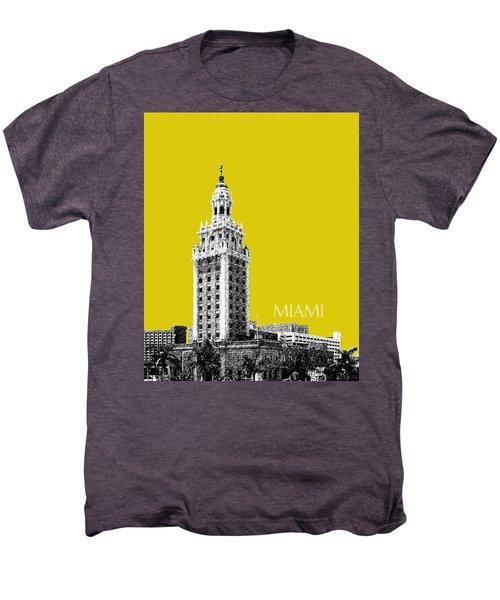 Miami Skyline Freedom Tower - Mustard Men's Premium T-Shirt
