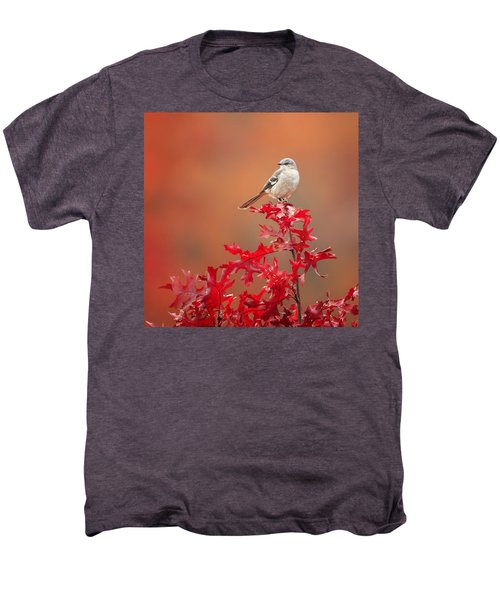 Mockingbird Autumn Square Men's Premium T-Shirt by Bill Wakeley