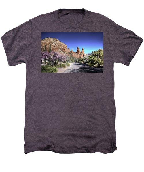 Mushroom Rock Men's Premium T-Shirt by Lynn Geoffroy