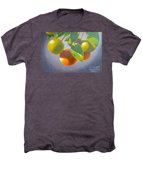 Oranges Men's Premium T-Shirt by Carey Chen