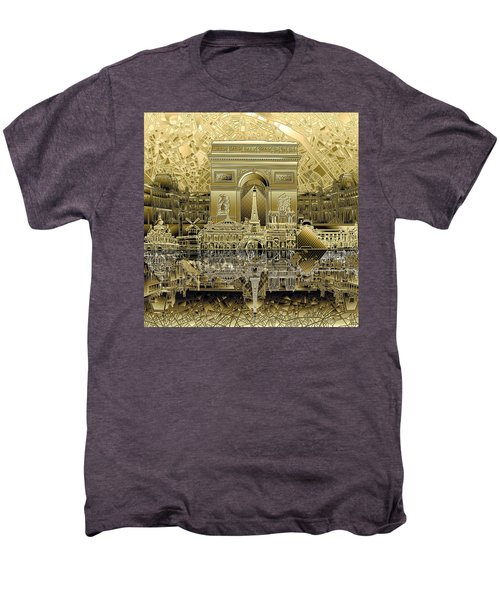 Paris Skyline Landmarks 4 Men's Premium T-Shirt