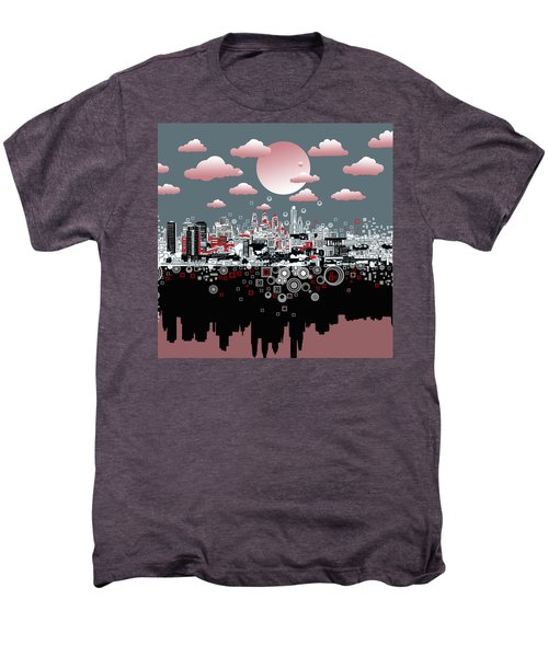 Philadelphia Skyline Abstract 6 Men's Premium T-Shirt