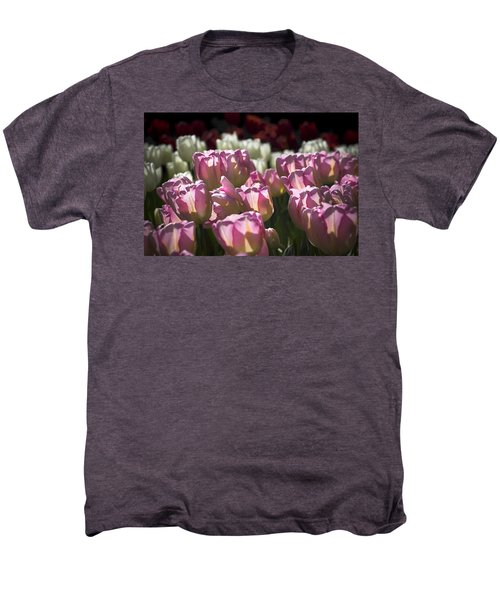 Pink Tulips Men's Premium T-Shirt