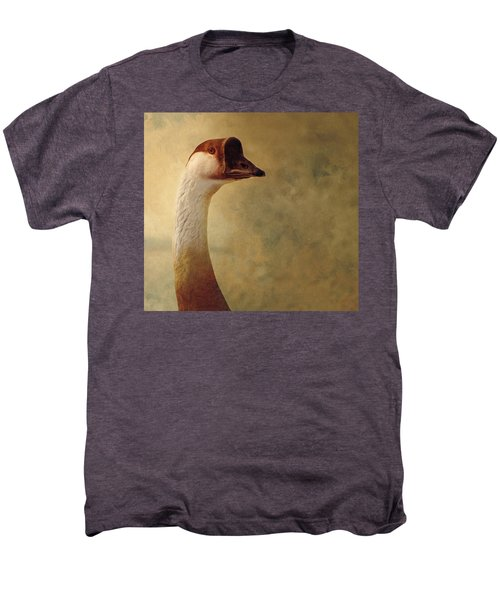 Portrait Of A Goose Men's Premium T-Shirt