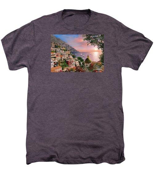 Positano Men's Premium T-Shirt by Dominic Davison