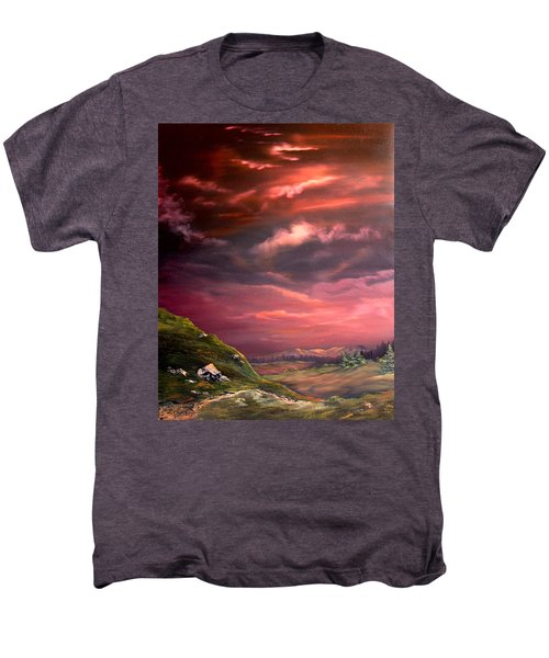 Red Sky At Night Men's Premium T-Shirt by Jean Walker