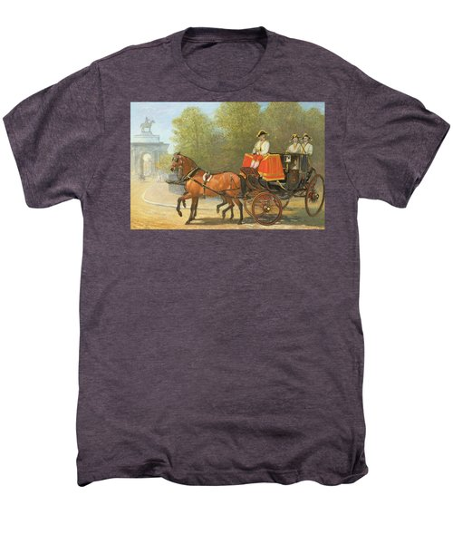 Returning From Her Majestys Drawing Room Men's Premium T-Shirt by Alfred Corbould