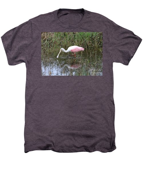 Roseate Spoonbill Reflection Men's Premium T-Shirt by Carol Groenen