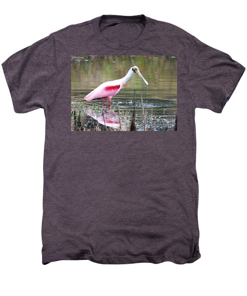 Spoonbill In The Pond Men's Premium T-Shirt by Carol Groenen