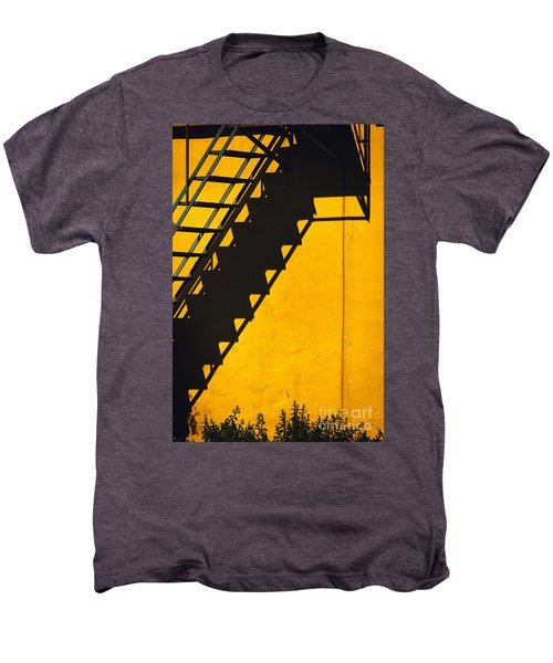Men's Premium T-Shirt featuring the photograph Staircase Shadow by Silvia Ganora