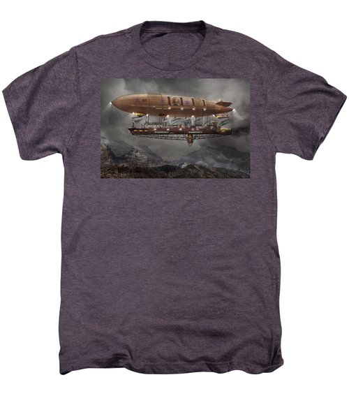 Steampunk - Blimp - Airship Maximus  Men's Premium T-Shirt