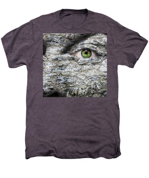 Stone Face Men's Premium T-Shirt by Semmick Photo