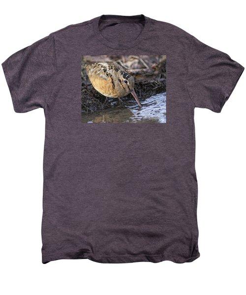 Streamside Woodcock Men's Premium T-Shirt by Timothy Flanigan