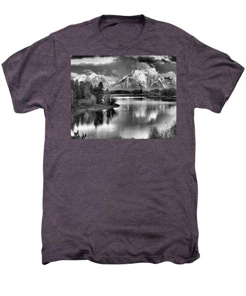 Tetons In Black And White Men's Premium T-Shirt