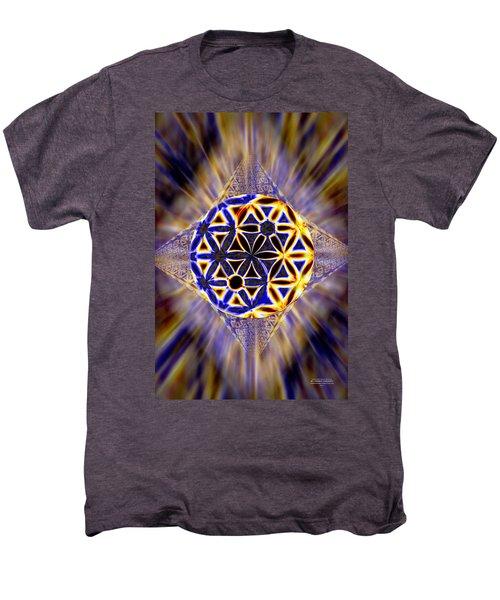 Tetra Balance Crystal Men's Premium T-Shirt by Derek Gedney