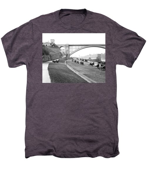 The Harlem River Speedway Men's Premium T-Shirt by Detroit Publishing Company