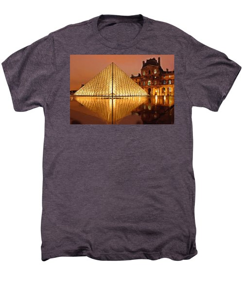 The Louvre By Night Men's Premium T-Shirt