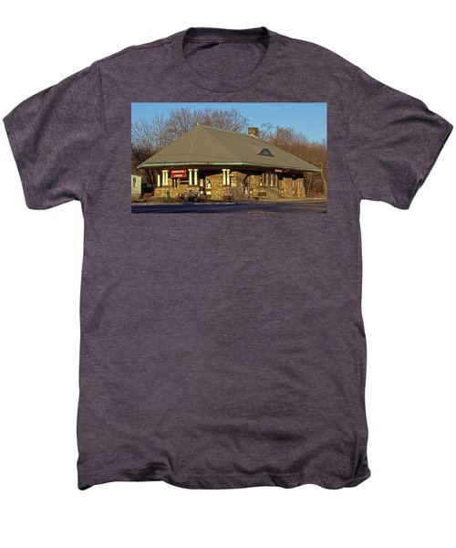 Train Stations And Libraries Men's Premium T-Shirt by Skip Willits