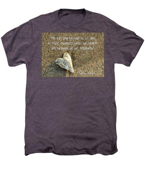 Treasured Heart Men's Premium T-Shirt by Peggy Hughes