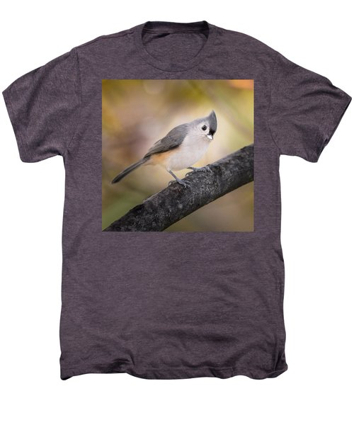 Tufted Titmouse Men's Premium T-Shirt by Bill Wakeley