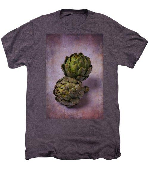 Two Artichokes Men's Premium T-Shirt by Garry Gay