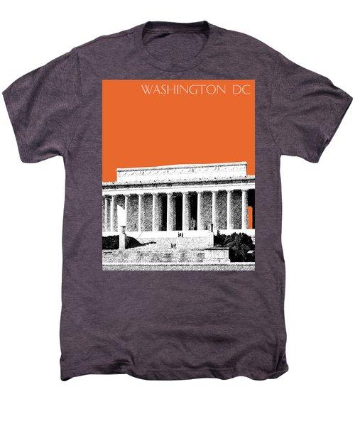 Washington Dc Skyline Lincoln Memorial - Coral Men's Premium T-Shirt
