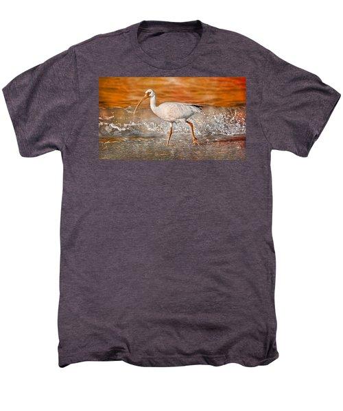 White Ibis Stroll Men's Premium T-Shirt