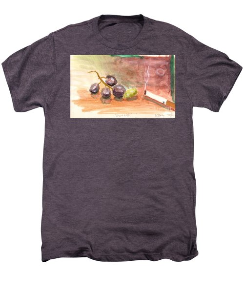 Men's Premium T-Shirt featuring the painting Grapeality by Rod Ismay