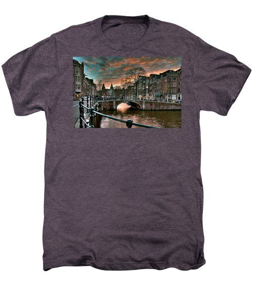 Prinsengracht And Reguliersgracht. Amsterdam Men's Premium T-Shirt