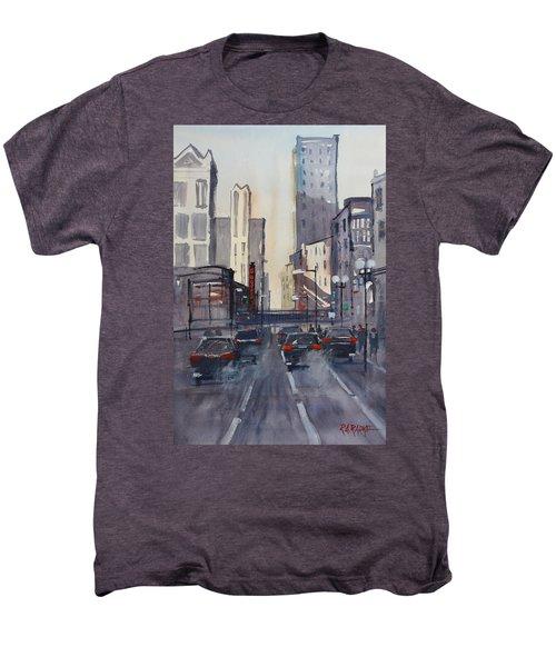 Theatre District - Chicago Men's Premium T-Shirt by Ryan Radke