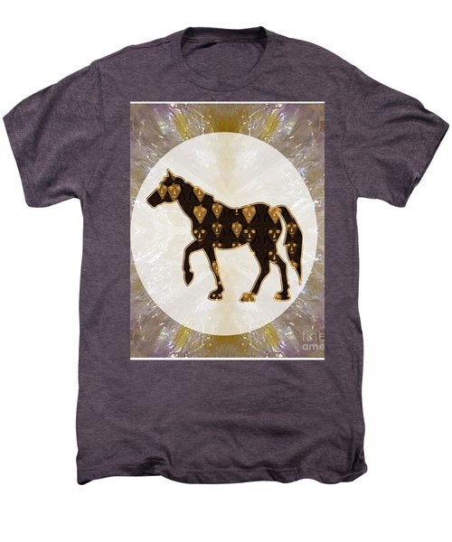 Horse Prancing Abstract Graphic Filled Cartoon Humor Faces Download Option For Personal Commercial  Men's Premium T-Shirt