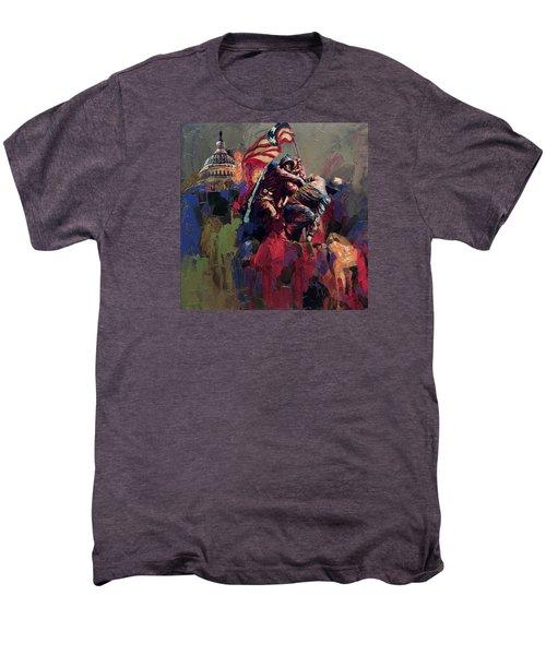 062 Jima Marine Memorial Washington Dc Men's Premium T-Shirt by Maryam Mughal