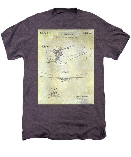 1947 Helicopter Patent Men's Premium T-Shirt by Jon Neidert