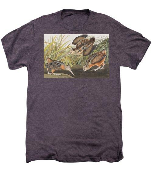 American Woodcock Men's Premium T-Shirt by John James Audubon