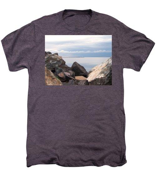 Break Wall On Lake Superior Men's Premium T-Shirt